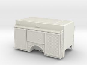1/87 Rosenbauer Sparks Fire body w/ rollup doors in White Natural Versatile Plastic