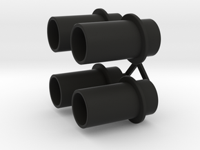 Exhaust Pipes Wellcraft SC38 in Black Premium Versatile Plastic