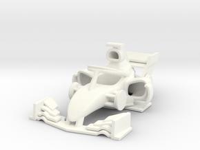 Mini Car 45mm in White Processed Versatile Plastic