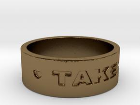 TAKEN Ring Size 7 in Polished Bronze