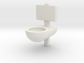 Prison Toilet 1/12 in White Natural Versatile Plastic