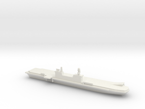 1/1800 Scale Italian aircraft carrier Cavour in White Natural Versatile Plastic