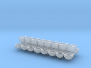 Prison Toilet (x16) 1/220 in Smooth Fine Detail Plastic