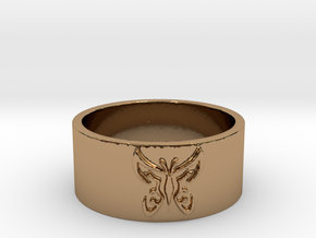 Butterfly V1 Ring Size 7 in Polished Brass