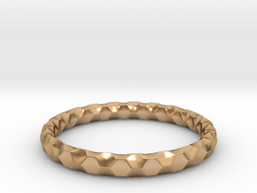 Honeycomb Ring in Polished Bronze: 8 / 56.75
