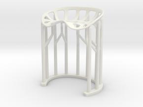 2028 Stool [1:6 scale] in White Premium Versatile Plastic