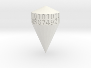 d21 shard dice in White Natural Versatile Plastic
