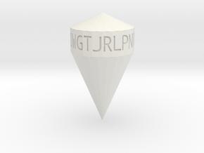 d21 Consonants shard dice in White Natural Versatile Plastic