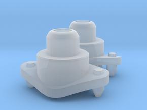 Eaglemoss Ecto-1 taller Strobe Light Base (pair) in Smooth Fine Detail Plastic