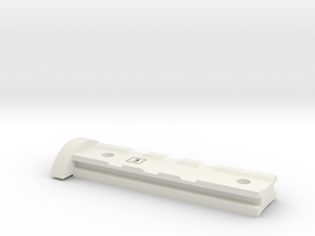 Nerf Rail for Alpha Trooper Grip  in White Natural Versatile Plastic
