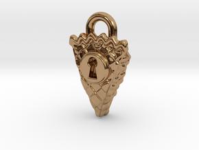 Pie Keyhole Lock in Polished Brass