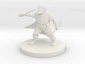 Dwarf Bard Mini in White Natural Versatile Plastic
