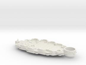 1/700 USS Arizona (BB-39) Casemate Deck w/out 5'' in White Natural Versatile Plastic