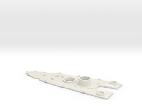 1/700 USS Oklahoma (1941) Stern Deck in White Natural Versatile Plastic