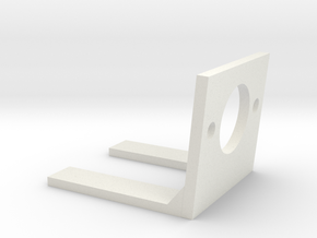 Small encoder mount in White Natural Versatile Plastic