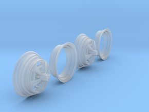 1/25 HQ GTS Wheels 7x14 2up 2pc in Smooth Fine Detail Plastic