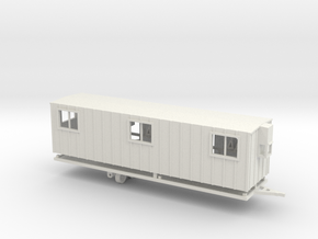 Construction Trailer Double Door 1-72 Scale in White Natural Versatile Plastic