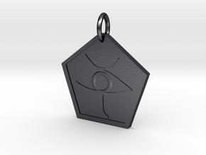 Boccob Symbol in Polished and Bronzed Black Steel