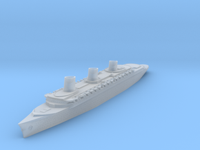SS Normandie in Smooth Fine Detail Plastic: 1:4800