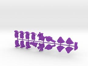 Custom Order, Purple 1 + 2, 17-set in Purple Processed Versatile Plastic