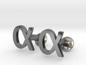 Alpha Cufflinks in Polished Silver