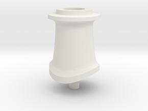 """LBSCR E4 """"Fat"""" Chimney in White Natural Versatile Plastic"""