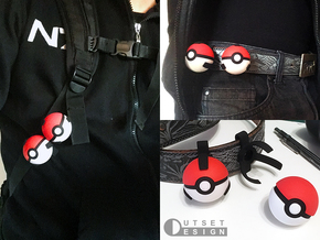 Small pokeball - Upper half - 1:1 scale in Red Processed Versatile Plastic