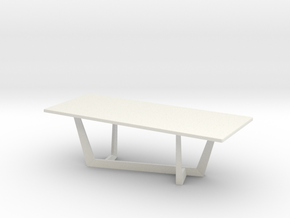 Modern Miniature 1:24 Table in White Natural Versatile Plastic: 1:24