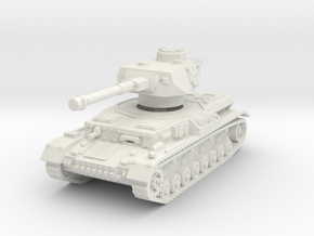 Panzer IV G 1/76 in White Natural Versatile Plastic