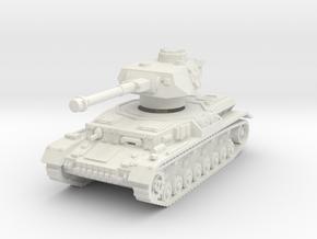 Panzer IV G 1/72 in White Natural Versatile Plastic