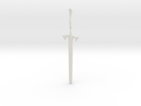 Black Knight's Sword in White Natural Versatile Plastic