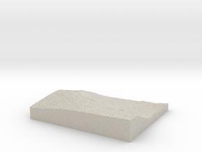 Model of Greenfield in Natural Sandstone