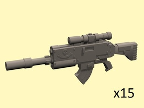 28mm Scoped gyrojet rifles in Smoothest Fine Detail Plastic
