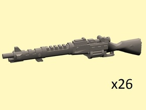 28mm Steampunk Induction rifles in Smoothest Fine Detail Plastic