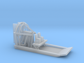 Airboat / Swamp Boat - Z Scale (single unit) in Smooth Fine Detail Plastic