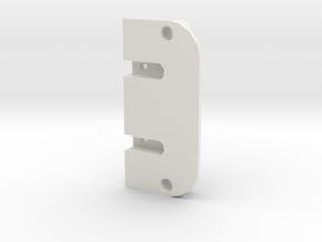 Terra Scorcher Enclosed Battery Holder Top Plate in White Natural Versatile Plastic