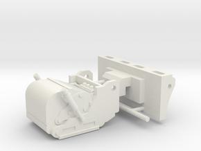 1/50th Skid Steer Cold Planer Asphalt Reclaimer  in White Natural Versatile Plastic
