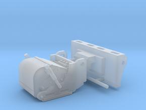 1/50th Skid Steer Cold Planer Asphalt Reclaimer  in Smooth Fine Detail Plastic