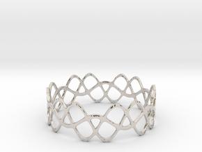 Braided Wave Bracelet (67mm) in Platinum
