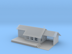 Small Train Station Z Scale in Smooth Fine Detail Plastic