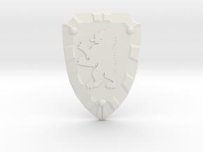 Bear Knight Shield in White Natural Versatile Plastic