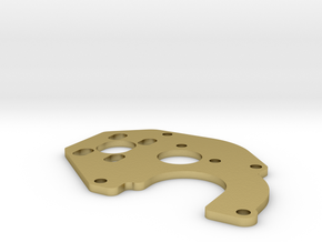 SCX24 ECX Barrage Motor Plate in Natural Brass