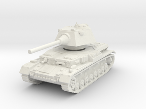 Panzer IV S 1/87 in White Natural Versatile Plastic