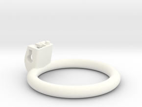 Cherry Keeper Ring - 54mm Flat in White Processed Versatile Plastic