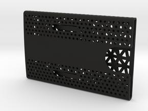 Business card case - CUSTOMIZE! in Black Natural Versatile Plastic