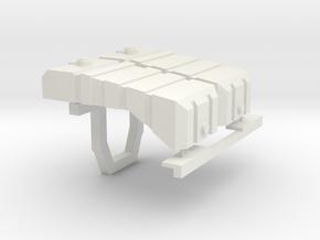 John Deere 8R fertilizer tanks  in White Natural Versatile Plastic: 1:64 - S