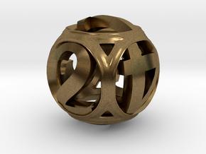 Round Die in Natural Bronze