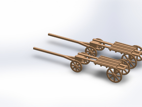 N TWO MORTAR WAGON in Smooth Fine Detail Plastic