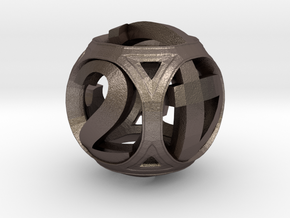 Round Die in Polished Bronzed Silver Steel