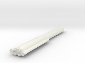 1/400 Scale SLS Block II Cargo in White Natural Versatile Plastic